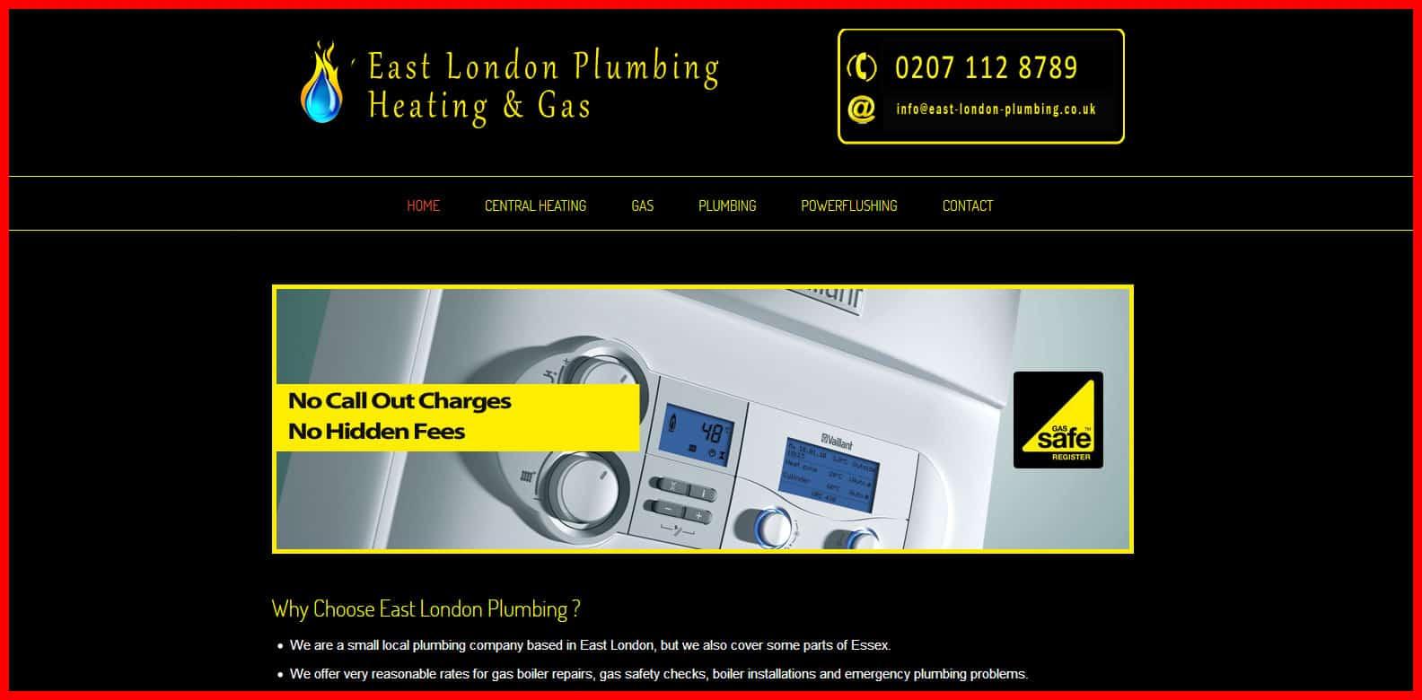plumber east london